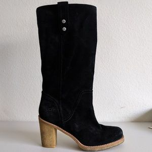 UGG Leather Heeled Boots